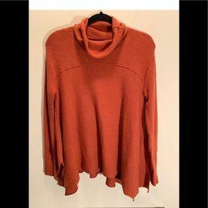Free People Anthro Sweater Tunic Burnt Orange EUC